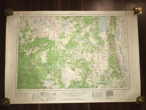 1962 ALTURAS OREGON CALIFORNIA MODOC NATIONAL FOREST GEOLOGICAL RARE ANTIQUE MAP
