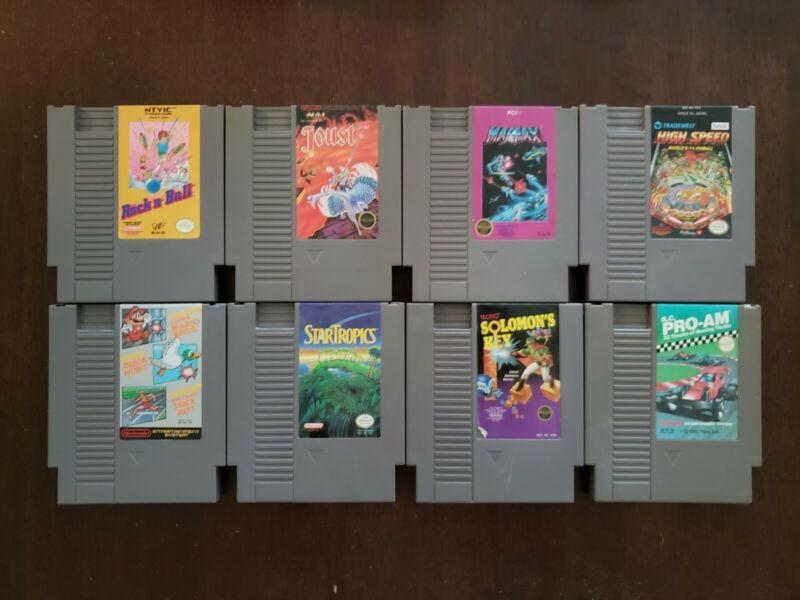 Lot of 8 Nintendo (NES) Games