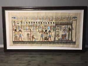 Egyptian Papyrus Scroll Framed