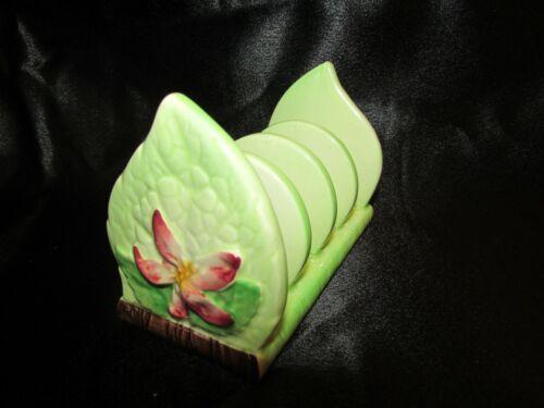 Carlton Ware embossed ware -Apple Blossom 4 slice toast rack