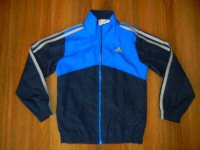 ADIDAS Blue Athletic TRACK JACKET Windbreaker Coat Size Kids YOUTH 5 Boys Girls (Athletic Kids Track Jacket)