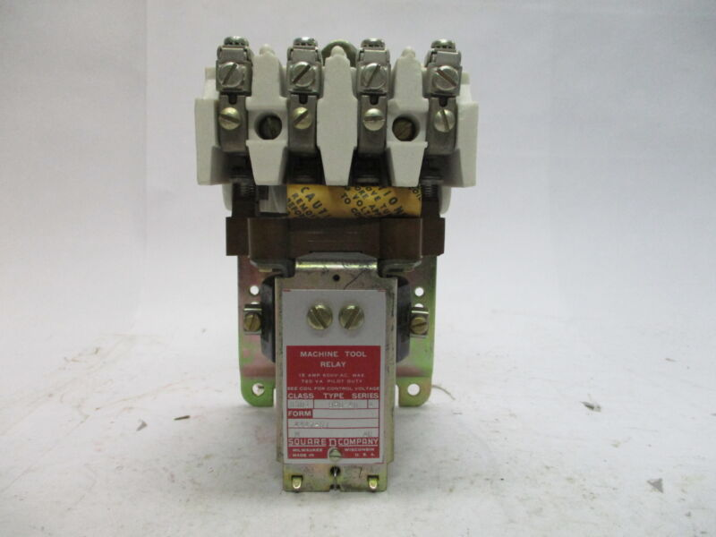 Square D 8501 BH0-40 Series A Machine Tool Relay 15A 600V.A.C Max.