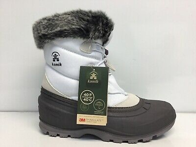Kamik Womens Momentum White Winter Boots Shoes Size 9…