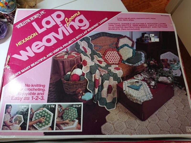 Vintage Hexagon Lap Weaving Looms Kit