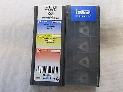 Iscar 16erm 12 Un External Right Hand Carbide Inserts Grade Ic50m 5 Pieces