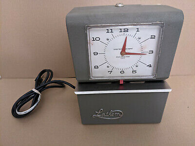 Vintage Lathem Model 4001 Time Clock With Key