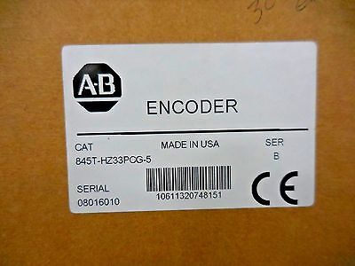 Allen-bradley 845t-hz33pcg-5 Optical Incremental Rotary Encoder Series B New