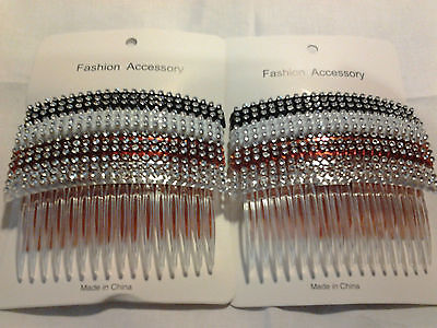 "Combs Plastic Hair Clips Side The Color Pick up 4"" ."