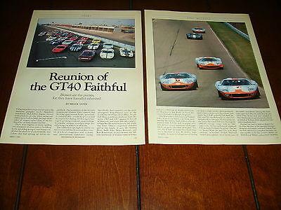 FORD GT-40 REUNION WATKINS GLEN 1989  ***ORIGINAL ARTICLE***