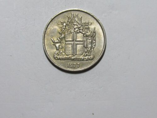 Old Iceland Coin - 1977 10 Kronur - Circulated
