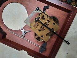 31 Day Grandfather Clock Movement Mechanism With Chime Rods And Key Edward Meyer