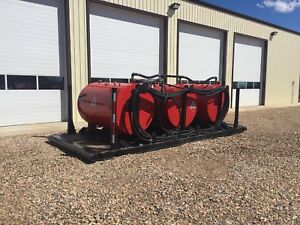500 GALLON FUEL SKIDS AND SKIDDED BATHROOM COMBO UNITS