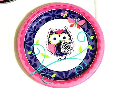 OWL PAL BIRTHDAY -8- PAPER LUNCH PLATES-8-3/4