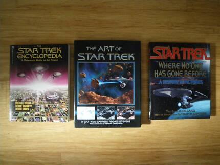 3 STAR TREK BOOKS SCIENCE FICTION MOVIES SCIFI FANTASY STARTREK