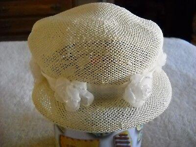 Women's Ivory Head Start New York Formal Sun Hat Size M for sale  Malden