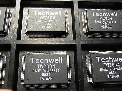 Tw2804  4 Ch Ntsc Pal Video Decoder  Qfp128  Techwell