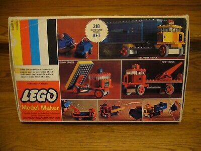 Vintage 1960's LEGO Model Maker Model No 310 Motorized INCOMPLETE AS-IS UNTESTED