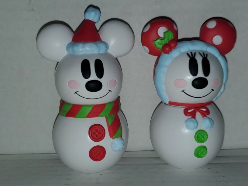 TOKYO Disney Christmas Mickey&Minnie candy case snowman Pre-owned