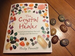 Crystal Healing Book and Engraved Chakra Crystals.