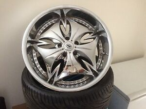 """Ford 20"""" rims and tyres BA,BF,FG Mudgee Mudgee Area Preview"""