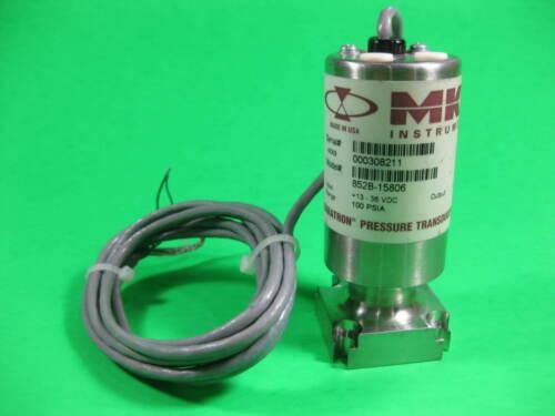 MKS Instruments Barathon Pressure Transducer -- 852B-15806 -- Used