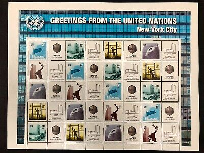 United Nations #986c Perf 13 1/4 Personalized Sheet of 20 2009 MNH