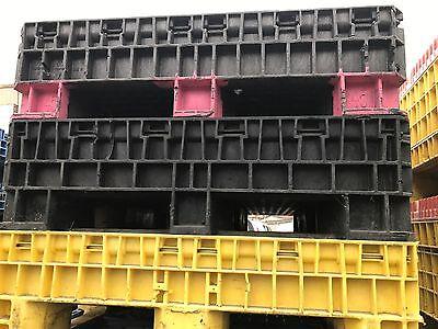 Collapsible Plastic Basketscrate 56x48x36 2 Door Lot Of 7 Shop