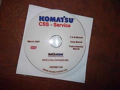 Komatsu D87e 2 Thru D475asd 5Eo Crawler Dozer Service Shop Repair Manual Cd