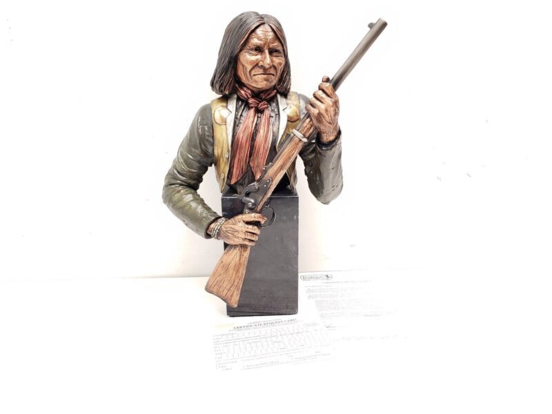 Rebellious Chief Geronimo Bronze Statue by C.A. Pardell Apache Legends 90/950