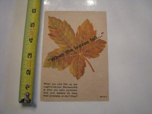 "WWII WW2 GERMAN PROPAGANDA LEAFLET ""When The Leaves Fall"" 1944 American Soldiers"