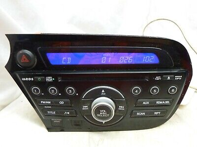 10 11 12 Honda Insight Radio Cd w/Aux Port & Theft Code 39100-TM8-A02 ETV26