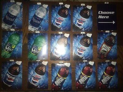 Lot 15 Dixie Narco 501e 276hv Soda Vending Machine 20oz Bottle Labels