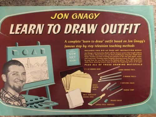 VTg 1950 JON GNAGY LEARN TO DRAW OUTFIT