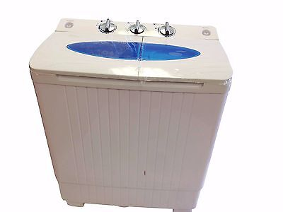 غسالة ملابس جديد  PORTABLE MINI SMALL COMPACT WASHING MACHINE WASHER SPIN DRYER 5.0KG