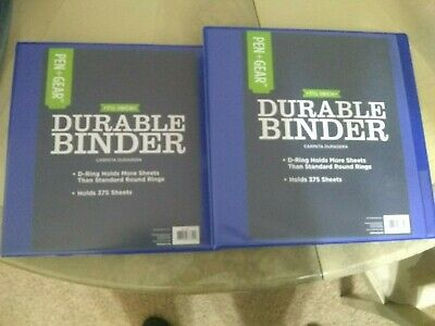 Pengear 1 12 Inch Durable 3 Ring Binder Lot Of 2