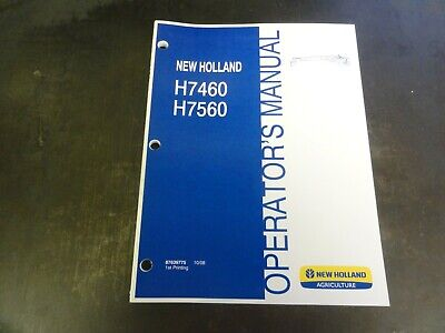 New Holland H7460 H7560 Discbine Mower Conditioner Operators Manual 87639775