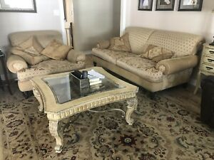 Family Room Set: 2 sofas, ottoman, carpet and coffee table
