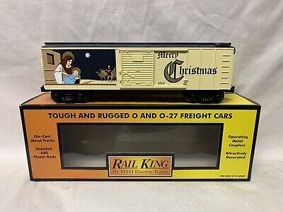 ✅MTH RAILKING 2005 CHRISTMAS BOX CAR 30-74257! FOR O GAUGE TRAIN SET HOLIDAY
