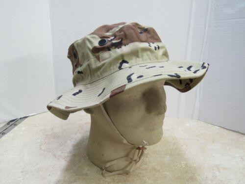 Genuine USGI 6 Color Chocolate Chip Boonie Hat Gulf War Desert Camo 7 1/2 NOS