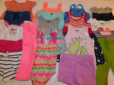 Baby Girl 18 18-24 Month Spring Summer Shirt Short Clothes Outfits Lot FREE SHIP