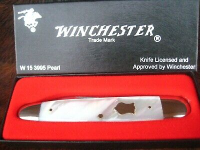 """1992 Winchester USA 3995 Mother of Pearl Sleeveboard Whittler Knife, 4"""" Long"""