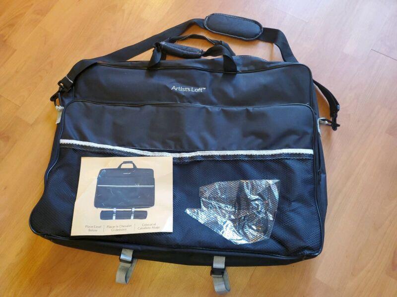 Artists Loft  Art  Storage  Carrier Black Tote Bag Briefcase New