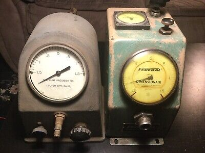 Federal Dimensionair D-2500 Hunt Air Pneumatic Gauge .00005 Bore Gage