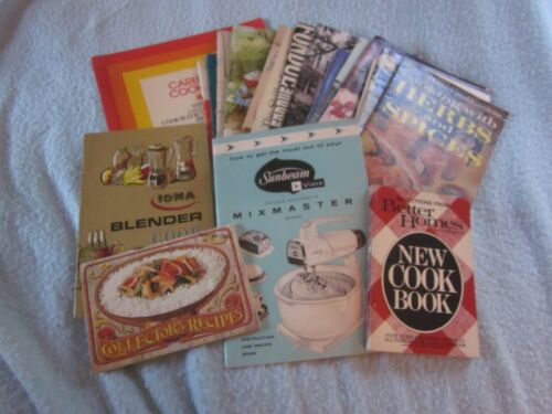 26 PC LOT VINTAGE SUNBEAM CROCK POT CANING COOKBOOKS COOKING ADVERTISING BOOK