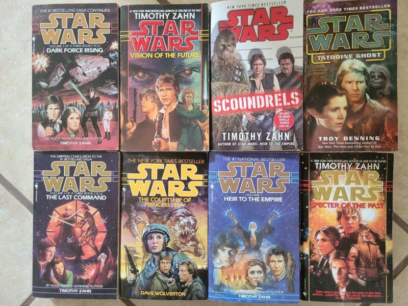 VG++ 8 PB Star Wars lot Han Solo 3 Book Cycle Darth Vader Scoundrel Timothy Zahn