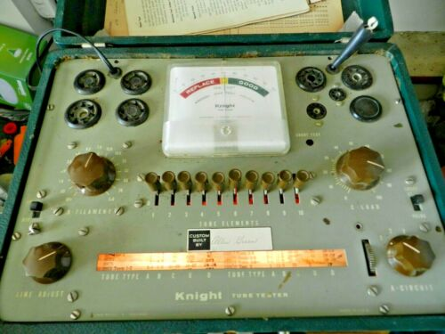 KNIGHT MODEL 600 VACUUM TUBE TESTER TESTED WORKING