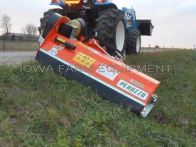 60 Ditch Bank Flail Mower Peruzzo Fox Cross 1600 20-40hp Hyd Offset Tilt