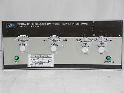 Hp Agilent 59501a Hp-ib Isolated Da Power Supply Programmer