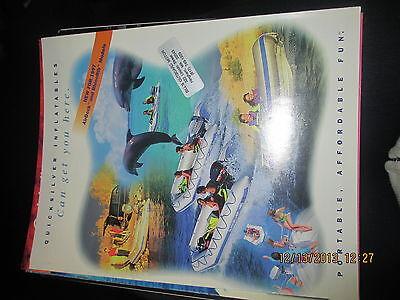 1996 QUICKSILVER INFLATABLE BOAT BROCHURE-CATALOG