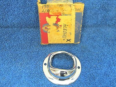 1950 CHRYSLER & IMPERIAL  LICENSE PLATE LIGHT LAMP BEZEL  NOS MOPAR  717